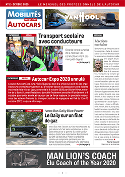 Iveco Daily Blue Power equipped with Telma in the October 2020 issue of Mobilités Magazine Autocars