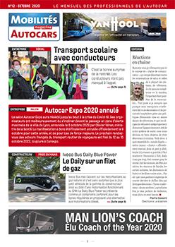Telma ile donatılmış Iveco Daily Blue Power, Mobilités Magazine Autocars'ın 2020 Ekim sayısında