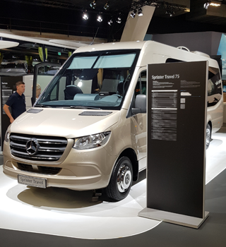 THE SPRINTER TRAVEL 75 FITTED WITH A TELMA INDUCTION BRAKE